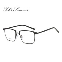 060376a2ae1 Yok s Rectangle Clear Lens Eyeglasses Women Men Brand Ultralight Alloy Half Frame  Glasses Prescription Optical Spectacle Frames UN1094