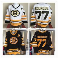 Cheap custom Ray Bourque Jersey Vintage Boston Bruins Black White 1988 s  Home Away CCM Mens Personalized stitching jerseys 6002c500c