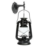 luzes para quintal venda por atacado-ICOCO E27 Lanterna Do Vintage Montado Na Parede Antiga Lâmpada Arandela Luz Poupança De Energia Para Bar Corredor Jardim Ao Ar Livre Lâmpada Do Quintal
