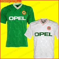 camiseta de fútbol del equipo nacional de tailandia al por mayor-Ireland soccer jersey football shirt 1990 1992 Irlanda retro camiseta de fútbol camiseta de fútbol República de Irlanda jerseys del equipo nacional 90 Mundial kit de fútbol de la camiseta verde