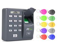 portas biométricas venda por atacado-5YOA 5YBX6A Biométrico de Impressões Digitais de Controle de Acesso Intercom Máquina Digital Sistema de Código RFID Elétrica Para Fechadura Da Porta Chaves