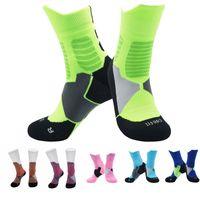 Wholesale warm socks for girls for sale - Group buy Professional Basketball Socks Pink Socks For Women Girls Keep Warm Winter Sock Stocking Table Tennis Badminton Baseball Free DHL M114Y