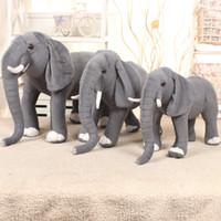jouets d'équitation en peluche achat en gros de-80 cm belle assez debout éléphant gry animé modèle animaux en peluche simulé peut monter Kid monter poupée en peluche enfants jouets cadeau