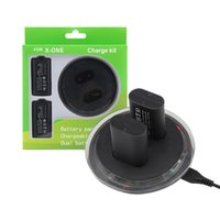 Wholesale xbox one rechargeable resale online - Handle Set Gamepad Set For Xbox One Dual Station Controller Charging Dock Charger And Rechargeable Battery