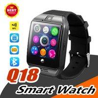 relógios de pulso venda por atacado-Q18 smart watch bluetooth smart band para android celulares relógio de pulso apoio cartão sim câmera chamada de resposta e configurar vários idiomas