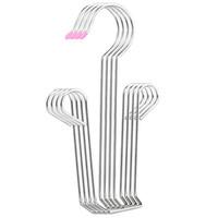 toalheiro venda por atacado-10 peças de aço inoxidável Gancho multifuncionais Calçados Calças Laço Cachecol Non-Slip lenço de toalha