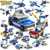 inşa edilmiş model arabalar toptan satış-Blok model araba Inşa itfaiye binası robot bulmaca küçük parçacık plastik montaj küçük yapı taşları anaokulu çocuk oyuncakları hediye