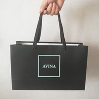 luxuriöses papier groihandel-500pcs / lot Luxurious Papiertüten für Ihre Marken-Logo Shopping Market Shop Wiederverwendbare Boutique-Beutel für Geschenk Sachen Individuell gestaltete Verpackung