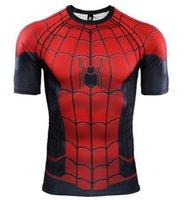 новый стиль лучшие рубашки оптовых-Продвижение лучший модный стиль футболка-паук новая одежда сценическая одежда хэллоуин костюмы работает открытый мода мстители