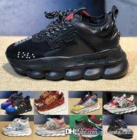 imagem tênis venda por atacado-Imagens reais! Ver Top Quality famosa marca Men baratos Running Shoes Black Red alta-top de couro genuíno de homens Flats Medusa Luxo Sneake