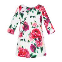05f3520e8a full length robes UK - Long Sleeve Girls Dresses for Party Robe Fille Kids  Flower Dresses