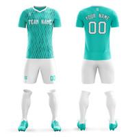 876bbfdb08289 Diseño al por mayor Totalmente sublimación Fútbol personalizado Jersey  fútbol uniforme transpirable de secado rápido Camisas De Futebol Envío  gratis