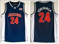 jersey de iguodala al por mayor-NCAA Arizona College 24 Iguodala azul marino bordado baloncesto Swingman Jersey S-XXL