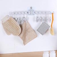 raf katlama toptan satış-Katlanır Giysi Kurutma Raf 10 Kazıklar Çorap Iç Çamaşırı Sutyen Katlanır Çamaşır Askı Raf Kurutma Raf Banyo Askı Kanca OOA6048