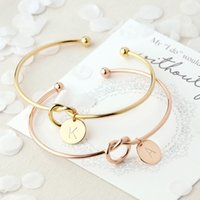 Wholesale rose gold snake charm resale online - A to Z Letters New Fashion Hot Rose Gold Silver Alloy Letter Bracelet Snake Chain Charm Bracelet Female Personality Jewelry