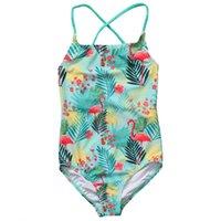 säugling zwei stück badeanzug großhandel-Kinder badeanzüge mädchen zwei / ein stück annimal bikini 2017 kinder bademode für mädchen säuglingsbadeanzug mädchen kind sommer bikini