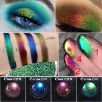 parlaklık parlaklık makyaj toptan satış-CmaaDu Polarize Glitter Göz Farı Metalik Pırıltılı Değişim Renk Göz Farı Bukalemun Göz farı Tek Renk Gözler Makyaj Toz