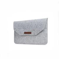 caso feltro design venda por atacado-Felt laptop bag saco liso protetor de 11 polegadas macbook case de poliéster capa protetora com bolso