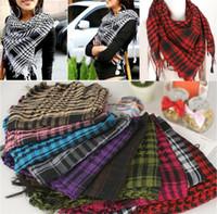 arab scarf großhandel-Neue Ankunft 100 STÜCK Stirnband Unisex Mode Frauen Männer Araber Shemagh Keffiyeh Palästina Schal Schal Wrap Schals T10C0014