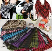 ingrosso arab scarf-Nuovo Arrivo 100 PZ Fascia Unisex Moda Donna Uomo Arabo Shemagh Keffiyeh Palestina Sciarpa Scialle Sciarpe Wrap T10C0014