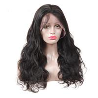 ingrosso parrucche remy di alta qualità-Parrucca anteriore in pizzo vergine brasiliano di alta qualità 9A Parrucca per capelli umani Remy migliori parrucche naturali