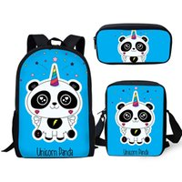 Wholesale cute backpacks for sale - Group buy Cute Panda Unicorn School Bag Baby Kids Student Orthopedic Backpack Boy Girls Children Bookbag Rucksack Knapsack