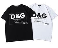 t shirt yeni tasarımlar kızlar toptan satış-Yeni Moda Kadın ve erkek Rahat T-Shirt Öğrencileri Yaz Kısa kollu üstleri Klasik tasarım Erkek ve kız T Shirt Tee G11206