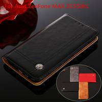 caches asus zenfone achat en gros de-Pour Asus Zenfone MAX ZC550KL Etui pour étuis à rabat couvrir le porte-carte portefeuille portefeuille