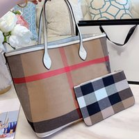 Wholesale casual luggage resale online - Tote Bag Shopping Bags Women Handbags Classic Check Plaid Bag Inside High Capacity Travel Luggage Bag High Quality