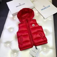 erkek çocuklar için yeni ceketler toptan satış-2-10 yıl Yeni Kız erkek Bebek Aşağı Kapüşonlu yelek ceket çocuklar Aşağı ceket yelek sonbahar kış çocuk giyim Ördek aşağı yelek ...