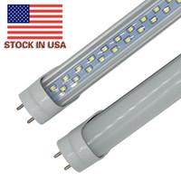 28w ledli ışıklar toptan satış-ABD stokta 28W 4ft T8 G13 Led Tüpler Işıklar Çift Sıralı Floresan Tüpler Light'ın 192pcs SMD 2835 AC 85-265V Led