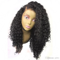 Wholesale big deep wave wigs for sale - Group buy Malaysian Human Hair Lacefront Wigs Deep Curly Transparent HD Lace Pre Plucked Glueless Remy Deep Wave Full Lace Wigs With Baby Hair