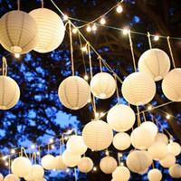 doğum günü balonları beyaz toptan satış-5 ADET DIY Beyaz Yuvarlak Çin Kağıt Fenerler Doğum Günü Düğün Dekorasyon Hediye Fener El Sanatları Balon Asılı Lamba Parti Malzemeleri