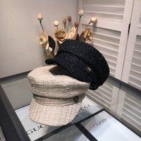 капот берета оптовых-2019 зима Высокого качества Luxury Конструкторы женских береты casquette Beanie шляпа капот де Капелл Firmati крышки Н01