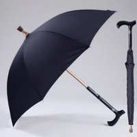 équipement de pluie homme achat en gros de-Hommes Parapluie Creative Canne Escalade Parapluie Long Manche Parapluie Mâle Bâton De Marche Antidérapant Mâle Coupe-Vent Parapluies Rain Gear MMA1699