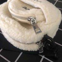 europäische pelzhandtaschen groihandel-American European Art-Winter Modetrend Damen Herren Schultertasche Umhängetasche Weihnachten-Abend-Partei-Kupplungs-Handtaschen mit Felltaschen