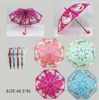 kinder automatischer regenschirm großhandel-4 arten von einhorn regenschirme für kinder kreative mode cartoon regenschirm für kinder automatische regenschirm geschenk regenschirm t3i5122