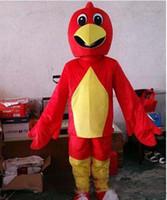 personagens de desenhos animados da galinha venda por atacado-2019Halloween adorável Frango Vermelho Traje Da Mascote pinto Caricatura Caráter Animal dos desenhos animados Trajes de Carnaval de Natal Paty Fancy Dress