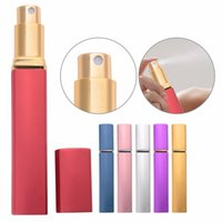 Wholesale pump container bottle resale online - 10ml ml Travel Mini Refillable Empty Atomizer Bottles Scent Pump Spray Case airless pump cosmetic container Drop Ship