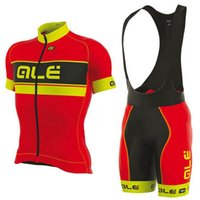 Wholesale ale cycling set for sale - Group buy ALE team Pro Cycling jersey D gel pad shorts set Ropa Ciclismo Cycling clothing Brand man Summer Anti UV MTB Bicycle Maillot Suit