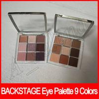 lidschatten professionelle matte palette großhandel-Augen Make-up Backstage Lidschatten Palette Professional Performance 9 Farben Matt Mult-Finish High Pigment Eyeshadow 2 Modelle