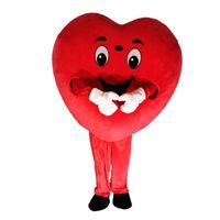 kırmızı kalp maskot kostümleri toptan satış-2019 Sıcak yeni kırmızı kalp aşk maskot kostüm AŞK kalp maskot kostüm ücretsiz kargo
