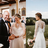 brautkleider schals großhandel-2019 Herbst Hochzeitskleid Jacke Schals Sexy Back Bridal Wraps Mit Langen Ärmeln Nach Maß Spitze Bolero Nach Maß