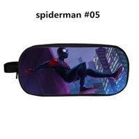 kalem kalem cüzdanları toptan satış-34 Stil Tasarım Spiderman Polyester Kalem Kutusu Karikatür Kalem Çanta Tedarik Öğrenciler Büyük Kapasiteli Kırtasiye Çantası Cüzdan Aksesuarları