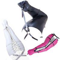 ingrosso legante corpo-Bondage Giochi Fetish Leg Binder Mermaid Body Sack Strait Jacket Restraint Mummy Bag Harness Role Play 0314