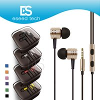 Wholesale tablet pink color online - Universal mm Metal For Xiaomi Headphones Headsets With Mic Stereo In Ear Earphone For Iphone s plus Samsung Tablet MP3 All Cellphone