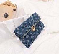 замшевые муфты оптовых-LOU новый джинсовый клатч с деним холст материал мягкая замша подкладка клатч оптовые продажи Размер: 25 * 13 * 1,5 см