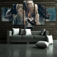 Wholesale 2018 New Movie Rampage Pieces Home Decor HD Printed Modern Art Painting on Canvas Unframed Framed