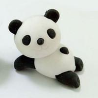radiergummi tiere großhandel-Radiergummi Niedlichen Tier Panda Form Radiergummi Schreibwaren Schule Bürobedarf