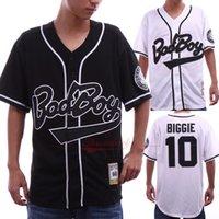 beyzbol formaları toptan satış-Erkek Badboy Forması 10 Biggie Film sürümü Beyzbol Formalar Renk Beyaz Boyut S-3XL Ücretsiz Kargo Ucuz